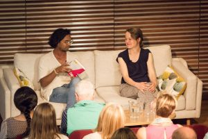 Mary-Anne Harrington and Guy Gunaratne at Writers' Day